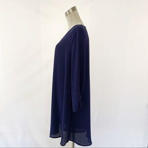 Lush Dresses - Lush Navy Blue Shift Dress Fully Lined (XL)